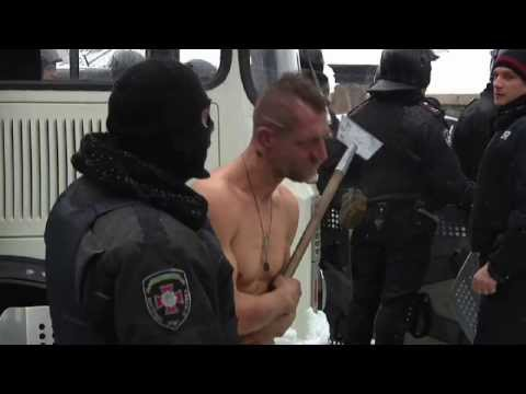 Police Beat Naked Man In Ukraine Snow - Truthloader video