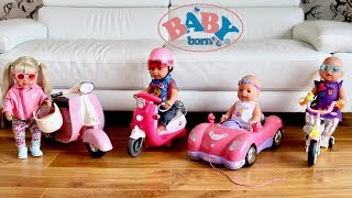 Baby Born Brother and City RC Scooter Unboxing Set Up and Baby Dolls Play Vehicle Toys