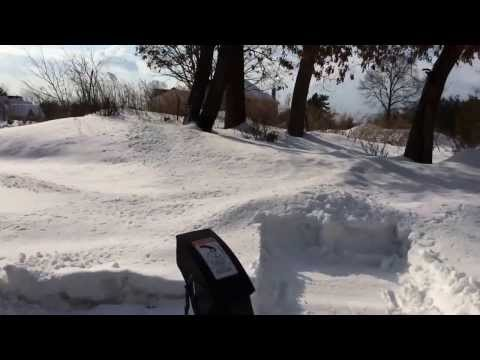 Berco ATV snowblower attachment