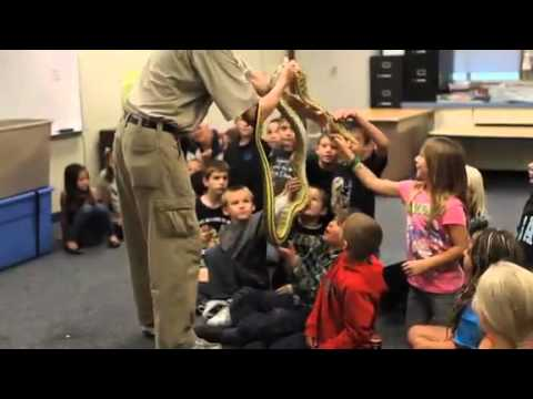 Reptile Show at Columbia Elementary School