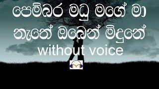 Pembara Madu Mage Karaoke (Without Voice) පෙම්බර මධු මගේ