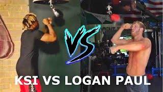 LOGAN PAUL vs KSI Speedbag Challenge