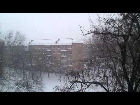 Снегопад в Киеве 24.03.2013 (Катаклизма в Киеве) (Snowfall in Kiev)