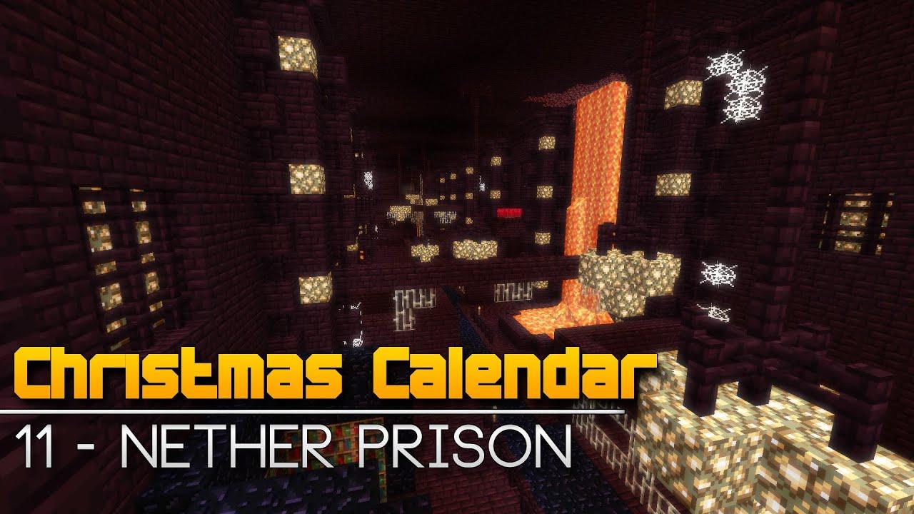 Christmas Calendar Parkour : Christmas calendar nether prison minecraft parkour