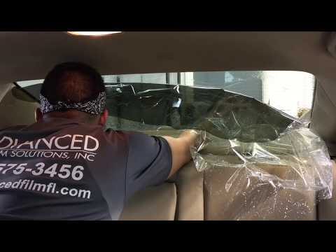 Window Tinting: How to reverse roll a back window