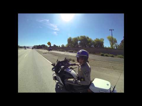 COP CHASES BIKERS THEN BIKER MAKES COP LEAVE