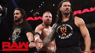 Roman Reigns, Seth Rollins and Dean Ambrose reunite as The Shield: Raw, March 4, 2019