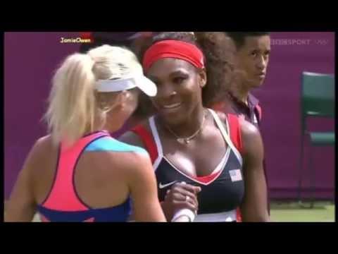 Serena Williams vs Urszula Radwanska 2012 London Highlights