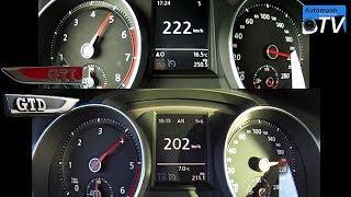 Golf 7 GTI vs. Golf 7 GTD - 0-220 km/h acceleration (1080p)