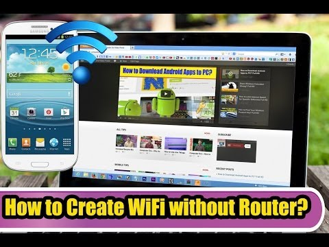 How to Create WiFi Connection Without a Router? Full HD