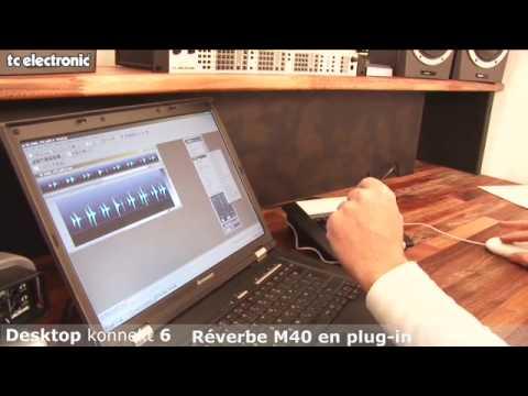 interface audio Desktop Konnekt 6 de TC Electronic : la réverbe M40 en plug-in VST at AU