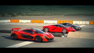 porsche 918 spyder vs mclaren p1 vs laferrari drag race forza horizon 2. Black Bedroom Furniture Sets. Home Design Ideas
