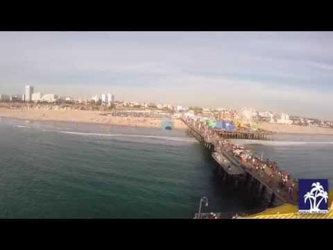 Santa Monica Pier Aerial Tour