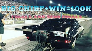 Street OUTLAWS BIG Chief wins 100k at Bristol while filming the show. SEMI FINALS AND FINALS