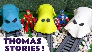Thomas and Friends Toy Train Stories with Stop Motion Play Doh Hulk Learn Colors Prank  TT4U