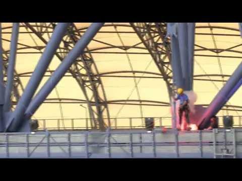 Skok Na Linie Na Stadionie, Lech Poznań. Rope Jump At Lech Poznan Stadium. 2013