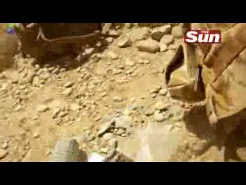 British Soldier Shot in Face, Helmand, Afghanistan