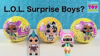 LOL Surprise Confetti Pop Series 3 BOY Doll Opening Toy Review | PSToyReviews