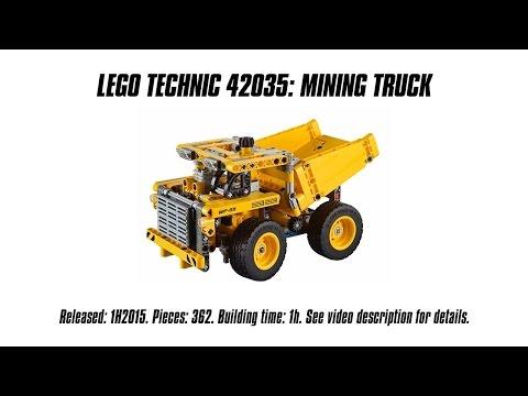 'Lego Technic 42035 Mining Truck' Unboxing. Speed Build & Review   Sariel's LEGO Technic Den