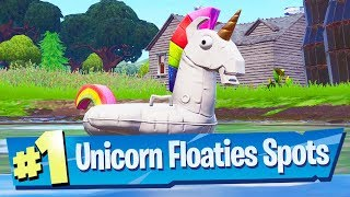 Search Unicorn Floaties at Swimming Holes - Fortnite 14 Days Of Summer Challenge