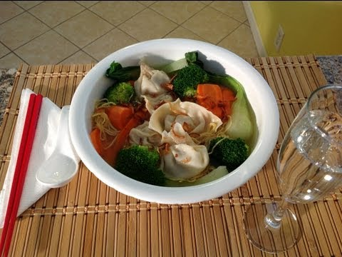 Wonton Soup Bok Choy-How To Make Wonton Soup with Egg Noodles How To Make Chinese Pork Dumplings