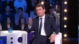"""""""Je ne suis pas là pour faire peur"""" Manuel Valls - On n'est pas couché - 21/12/13 #ONPC"""