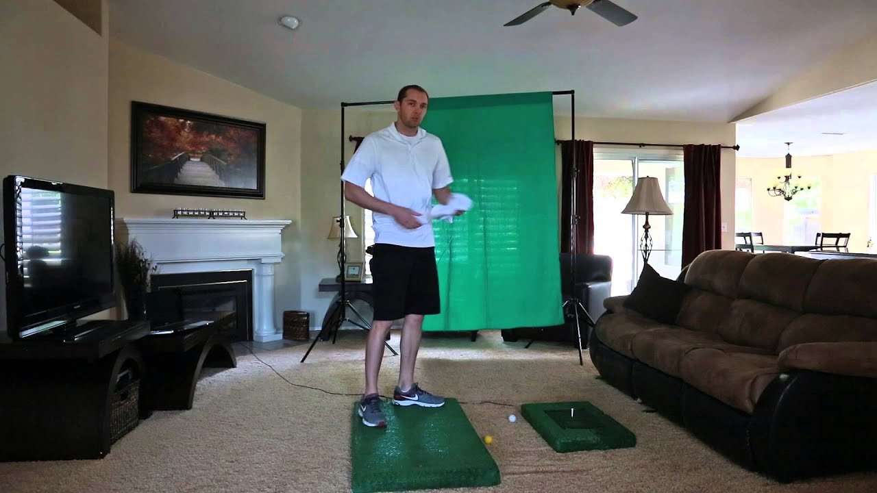 My Optishot Setup Home Golf Youtube