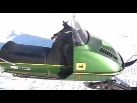 John Deere 300 snowmobile 35 years old and goin strong - YouTube