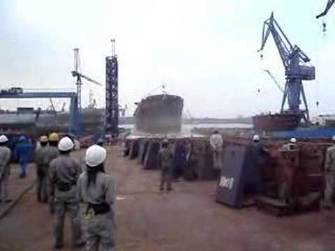 Bulk Carrier Launching video