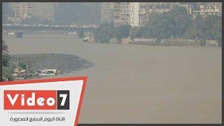 نهر النيل يكتسى باللون الأصفر بسبب السيول