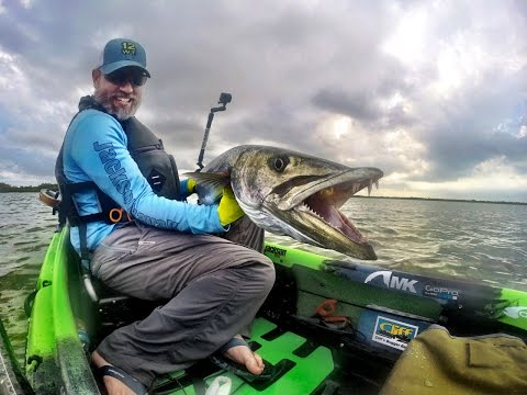 Monster Cuda Landed in a Jackson Kayak Kilroy