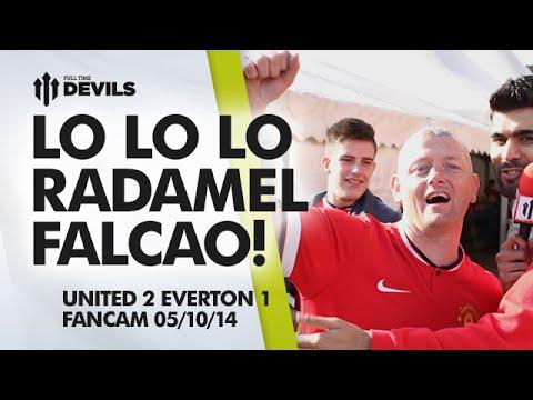 LO LO LO RADAMEL FALCAO!   Manchester United 2 Everton 1   FANCAM