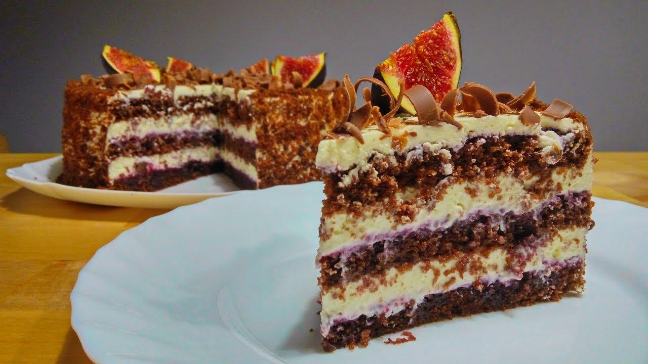Рецепт шоколадного бисквита для торта с фото