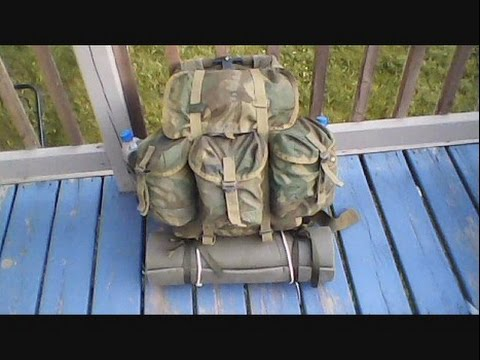 US Medium Alice Pack Gear Load Test from 55L Jansport Backpack