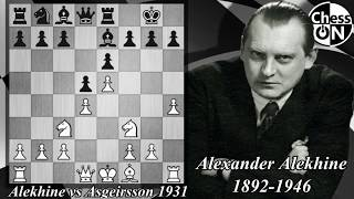 French Defense: Alekhine vs Asgeirsson (1931)