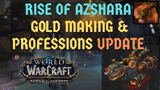 [Patch 8.2] BFA Gold Making & Professions SNEAK PEAK | How to Prepare for the Patch
