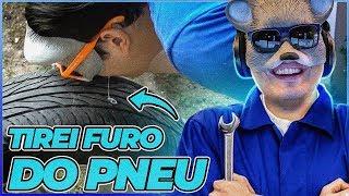 MANEIRA SIMPLES DE TIRAR FURO DE UM PNEU DE CARRO 🚙