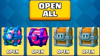 OPENING ALL MY GOOD CHESTS :: Clash Royale :: LEGENDARY CHEST / MAGICAL CHEST AND MORE!