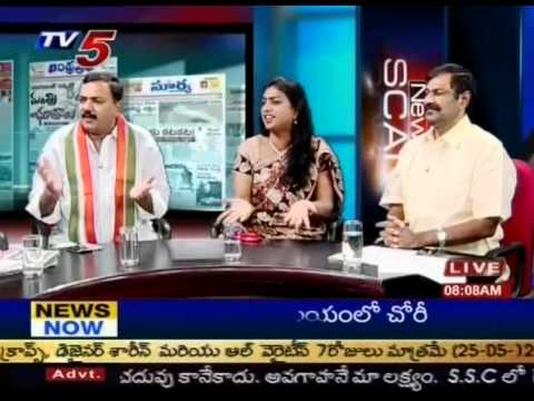 Debate on 'CBI Grills Jagan for Second Day in Assets Case'(TV5)-Part08