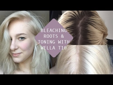 HOW TO BLEACH ROOTS + TONE with WELLA T10 (AT HOME)