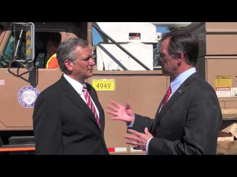 Nassau County Executive Ed Mangano - October 2013 Visit to Floral Park Discussing Post Sandy Support