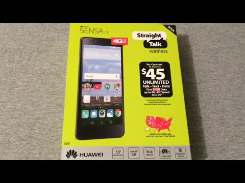 Huawei Sensa LTE Unboxing & Quick Look (Straight Talk)