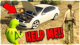 GTA 5 RP - Kermit Rigged a Nissan With Bombs!! (Called SWAT)