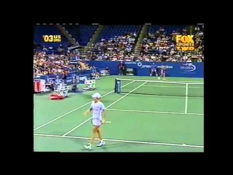 Anastasia Myskina v Justine Henin WTA Us Open Highlights