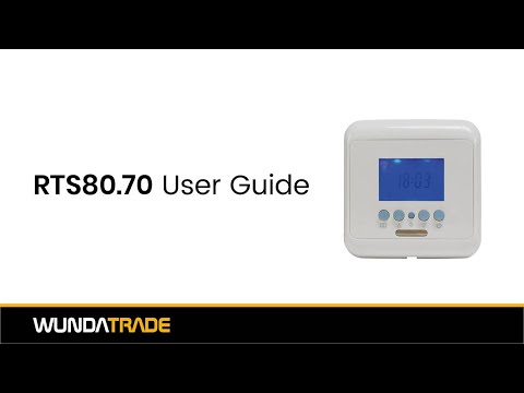 RTS80 70 Time clock user guide
