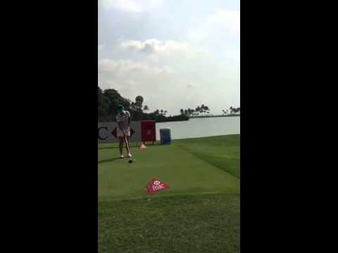 Lydia Ko Practising Flip, Extend and Slide HSBC Ladies 2015