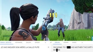 I Trolled French SQUEAKERS And TRANSLATED What They Said To Me (Playground FIll Fortnite)