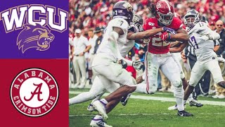 Western Carolina vs #5 Alabama Highlights | NCAAF Week 13 | College Football Highlights