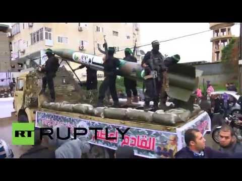 State of Palestine: Hamas shows off drone on 27th anniversary miitary parade