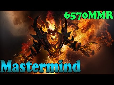 Dota 2 - Mastermind 6570 MMR Plays Shadow Fiend  Vol 1# - Ranked Match Gameplay!